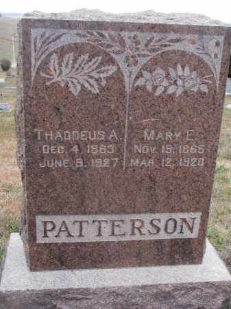 PATTERSON, MARY E. - Stanton County, Nebraska   MARY E. PATTERSON - Nebraska Gravestone Photos