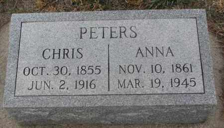 PETERS, ANNA - Stanton County, Nebraska | ANNA PETERS - Nebraska Gravestone Photos