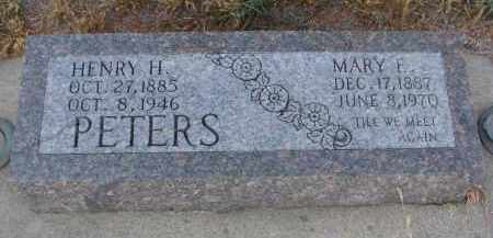 PETERS, MARY E. - Stanton County, Nebraska   MARY E. PETERS - Nebraska Gravestone Photos