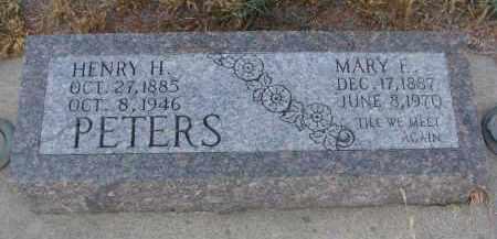 PETERS, HENRY H. - Stanton County, Nebraska | HENRY H. PETERS - Nebraska Gravestone Photos