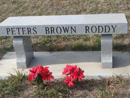 PETERS-BROWN-RODDY, PLOT STONE - Stanton County, Nebraska | PLOT STONE PETERS-BROWN-RODDY - Nebraska Gravestone Photos