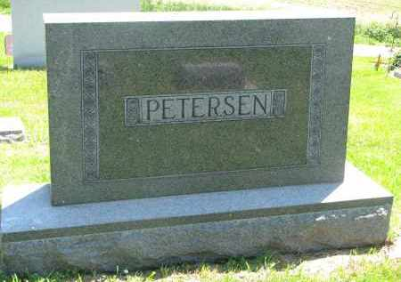 PETERSEN, FAMILY STONE - Stanton County, Nebraska | FAMILY STONE PETERSEN - Nebraska Gravestone Photos