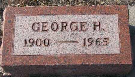 PETERSEN, GEORGE H. - Stanton County, Nebraska   GEORGE H. PETERSEN - Nebraska Gravestone Photos