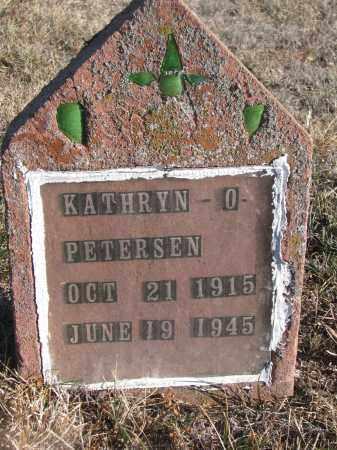 PETERSEN, KATHRYN O. - Stanton County, Nebraska   KATHRYN O. PETERSEN - Nebraska Gravestone Photos