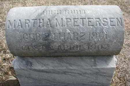 PETERSEN, MARTHA - Stanton County, Nebraska | MARTHA PETERSEN - Nebraska Gravestone Photos