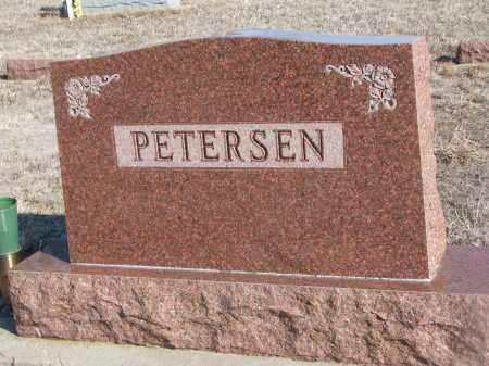 PETERSEN, PLOT STONE - Stanton County, Nebraska | PLOT STONE PETERSEN - Nebraska Gravestone Photos
