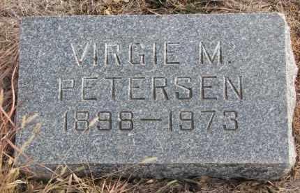 PETERSEN, VIRGIE M. - Stanton County, Nebraska | VIRGIE M. PETERSEN - Nebraska Gravestone Photos