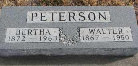 PETERSON, WALTER - Stanton County, Nebraska | WALTER PETERSON - Nebraska Gravestone Photos