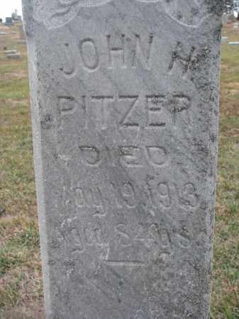 PITZER, JOHN H. (CLOSEUP) - Stanton County, Nebraska | JOHN H. (CLOSEUP) PITZER - Nebraska Gravestone Photos