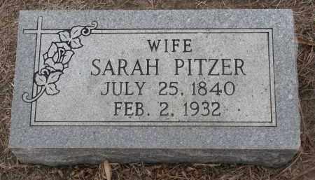 PITZER, SARAH - Stanton County, Nebraska   SARAH PITZER - Nebraska Gravestone Photos