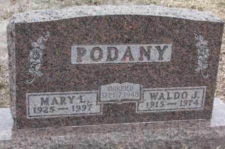 PODANY, WALDO J. - Stanton County, Nebraska | WALDO J. PODANY - Nebraska Gravestone Photos