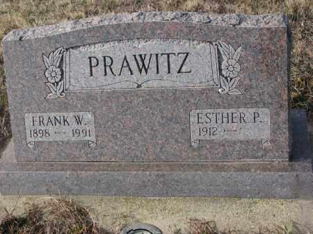 PRAWITZ, ESTHER P. - Stanton County, Nebraska | ESTHER P. PRAWITZ - Nebraska Gravestone Photos