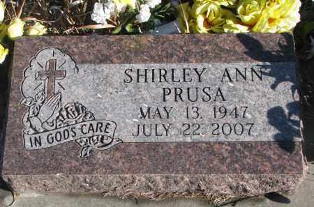 PRUSA, SHIRLEY ANN - Stanton County, Nebraska | SHIRLEY ANN PRUSA - Nebraska Gravestone Photos