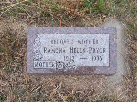 PRYOR, RAMONA HELEN - Stanton County, Nebraska | RAMONA HELEN PRYOR - Nebraska Gravestone Photos