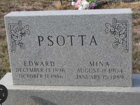 PSOTTA, EDWARD - Stanton County, Nebraska | EDWARD PSOTTA - Nebraska Gravestone Photos