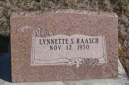 RAASCH, LYNNETTE S. - Stanton County, Nebraska | LYNNETTE S. RAASCH - Nebraska Gravestone Photos