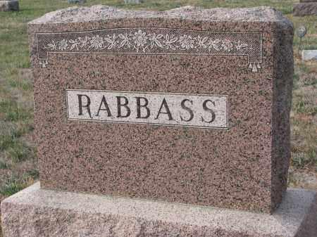 RABBASS, PLOT STONE - Stanton County, Nebraska   PLOT STONE RABBASS - Nebraska Gravestone Photos