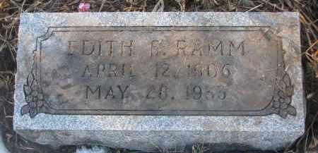 RAMM, EDITH S. - Stanton County, Nebraska | EDITH S. RAMM - Nebraska Gravestone Photos