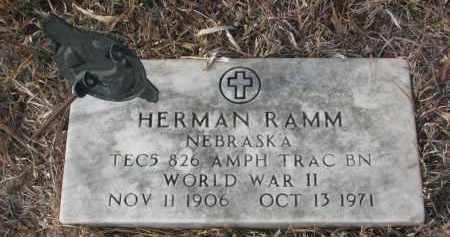 RAMM, HERMAN - Stanton County, Nebraska | HERMAN RAMM - Nebraska Gravestone Photos