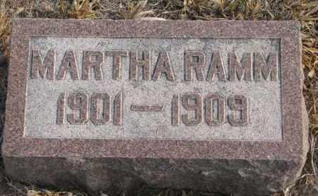 RAMM, MARTHA - Stanton County, Nebraska | MARTHA RAMM - Nebraska Gravestone Photos