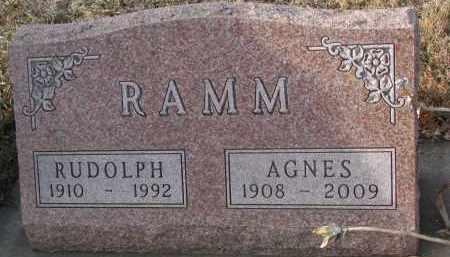 RAMM, AGNES - Stanton County, Nebraska   AGNES RAMM - Nebraska Gravestone Photos