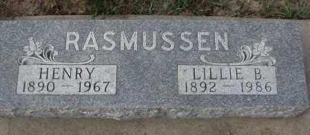 RASMUSSEN, LILLIE B. - Stanton County, Nebraska | LILLIE B. RASMUSSEN - Nebraska Gravestone Photos