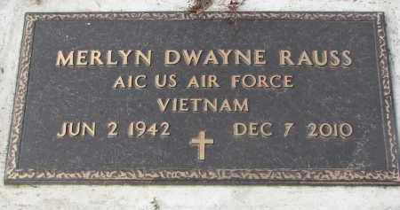 RAUSS, MERLYN DWAYNE (MILITARY) - Stanton County, Nebraska | MERLYN DWAYNE (MILITARY) RAUSS - Nebraska Gravestone Photos