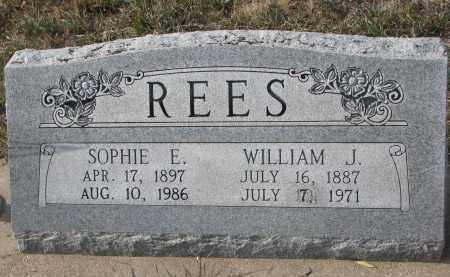 REES, WILLIAM J. - Stanton County, Nebraska   WILLIAM J. REES - Nebraska Gravestone Photos
