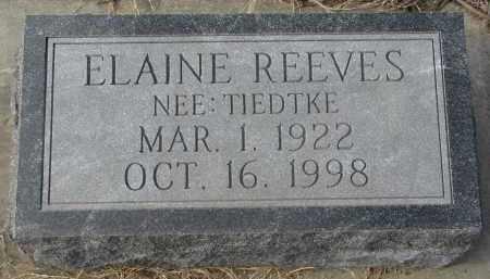REEVES, ELAINE - Stanton County, Nebraska   ELAINE REEVES - Nebraska Gravestone Photos