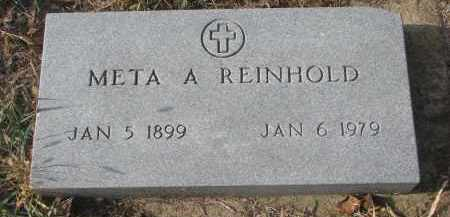REINHOLD, META A. - Stanton County, Nebraska   META A. REINHOLD - Nebraska Gravestone Photos