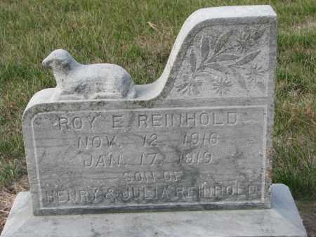 REINHOLD, ROY E. - Stanton County, Nebraska   ROY E. REINHOLD - Nebraska Gravestone Photos
