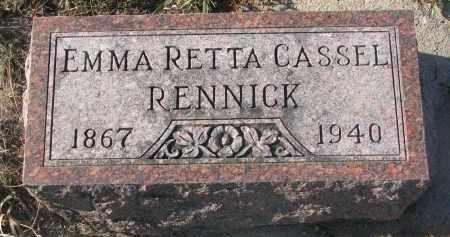 CASSEL RENNICK, EMMA RETTA - Stanton County, Nebraska   EMMA RETTA CASSEL RENNICK - Nebraska Gravestone Photos