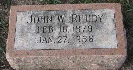 RHUDY, JOHN W. - Stanton County, Nebraska   JOHN W. RHUDY - Nebraska Gravestone Photos