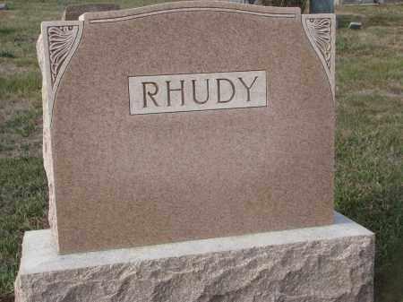 RHUDY, PLOT STONE - Stanton County, Nebraska | PLOT STONE RHUDY - Nebraska Gravestone Photos