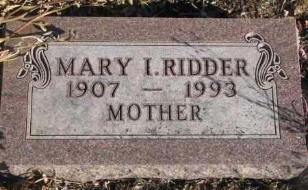 RIDDER, MARY I. - Stanton County, Nebraska | MARY I. RIDDER - Nebraska Gravestone Photos