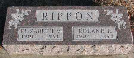 RIPPON, ROLAND E. - Stanton County, Nebraska   ROLAND E. RIPPON - Nebraska Gravestone Photos