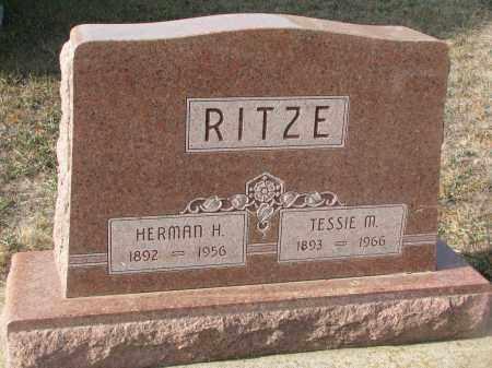 RITZE, HERMAN H. - Stanton County, Nebraska | HERMAN H. RITZE - Nebraska Gravestone Photos