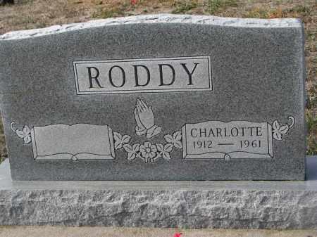 RODDY, CHARLOTTE - Stanton County, Nebraska   CHARLOTTE RODDY - Nebraska Gravestone Photos