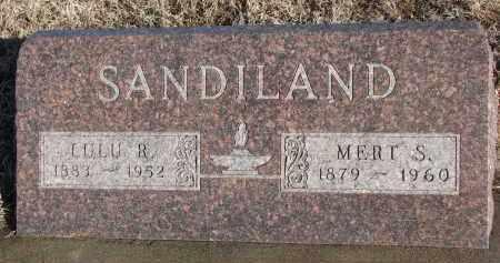 SANDILAND, MERT S. - Stanton County, Nebraska   MERT S. SANDILAND - Nebraska Gravestone Photos
