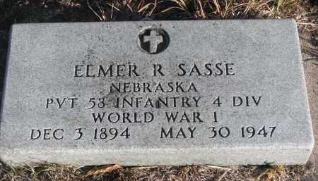 SASSE, ELMER R. - Stanton County, Nebraska | ELMER R. SASSE - Nebraska Gravestone Photos