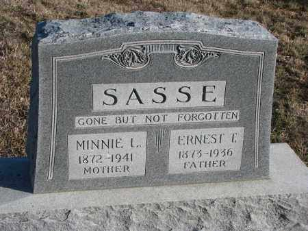 SASSE, MINNIE L. - Stanton County, Nebraska | MINNIE L. SASSE - Nebraska Gravestone Photos