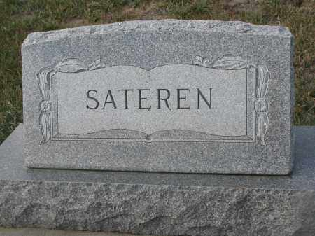 SATEREN, PLOT STONE - Stanton County, Nebraska | PLOT STONE SATEREN - Nebraska Gravestone Photos