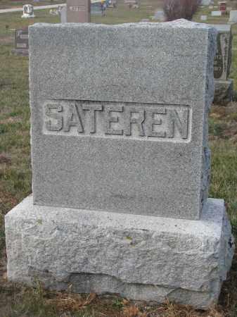 SATEREN, PLOT STONE - Stanton County, Nebraska   PLOT STONE SATEREN - Nebraska Gravestone Photos