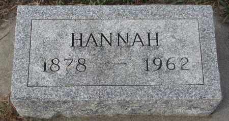 SATEREN, HANNAH - Stanton County, Nebraska   HANNAH SATEREN - Nebraska Gravestone Photos