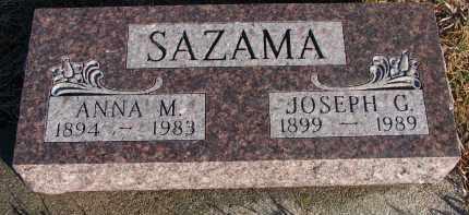 SAZAMA, ANNA M. - Stanton County, Nebraska | ANNA M. SAZAMA - Nebraska Gravestone Photos