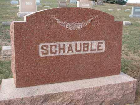 SCHAUBLE, PLOT STONE - Stanton County, Nebraska   PLOT STONE SCHAUBLE - Nebraska Gravestone Photos