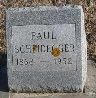 SCHEIDEGGER, PAUL - Stanton County, Nebraska | PAUL SCHEIDEGGER - Nebraska Gravestone Photos