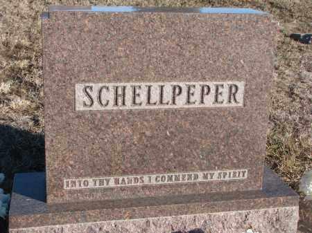 SCHELLPEPER, PLOT STONE - Stanton County, Nebraska | PLOT STONE SCHELLPEPER - Nebraska Gravestone Photos