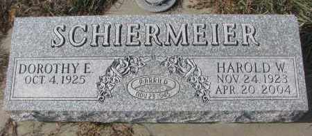 SCHIERMEIER, HAROLD W. - Stanton County, Nebraska | HAROLD W. SCHIERMEIER - Nebraska Gravestone Photos
