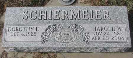 SCHIERMEIER, DOROTHY E. - Stanton County, Nebraska | DOROTHY E. SCHIERMEIER - Nebraska Gravestone Photos
